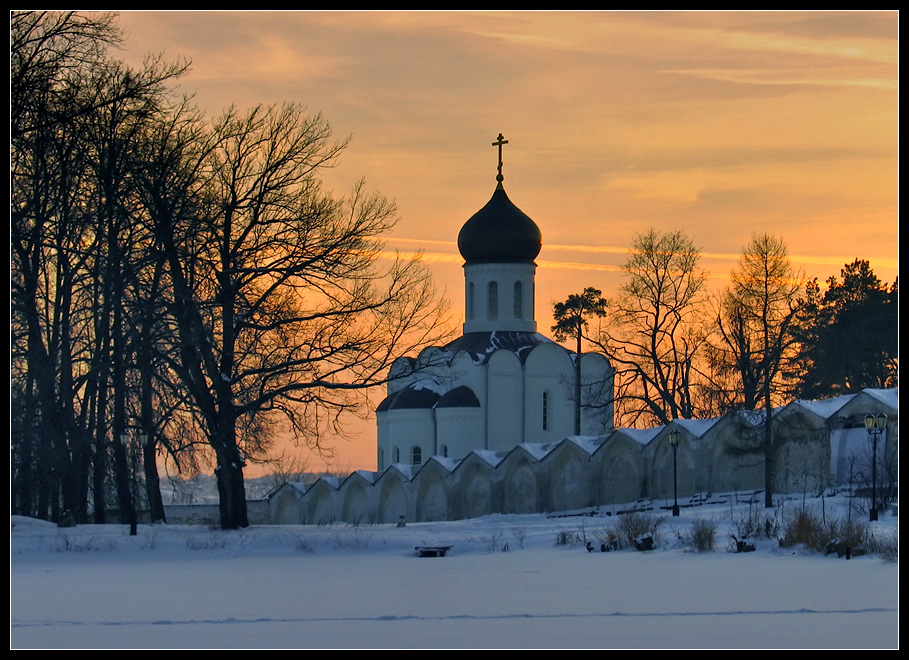 """photo """"Church at sunset"""" tags: architecture, landscape,"""