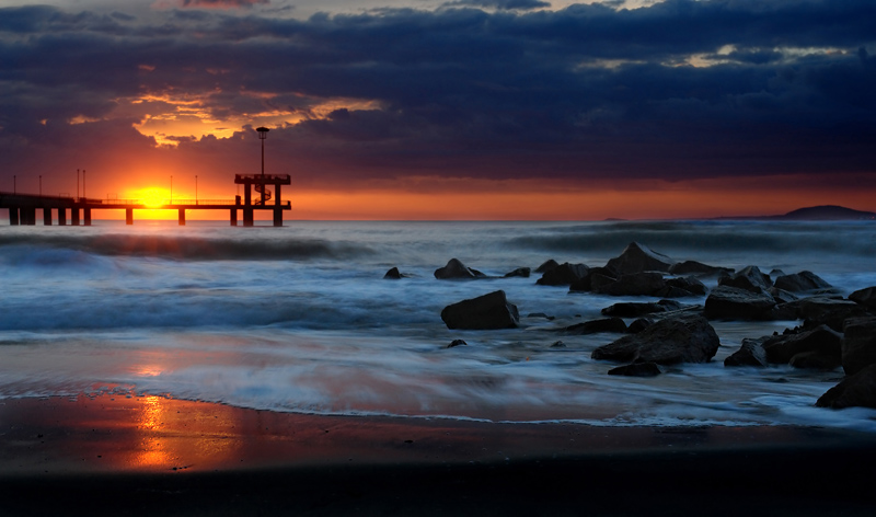 "photo ""The Bridge"" tags: landscape, water"