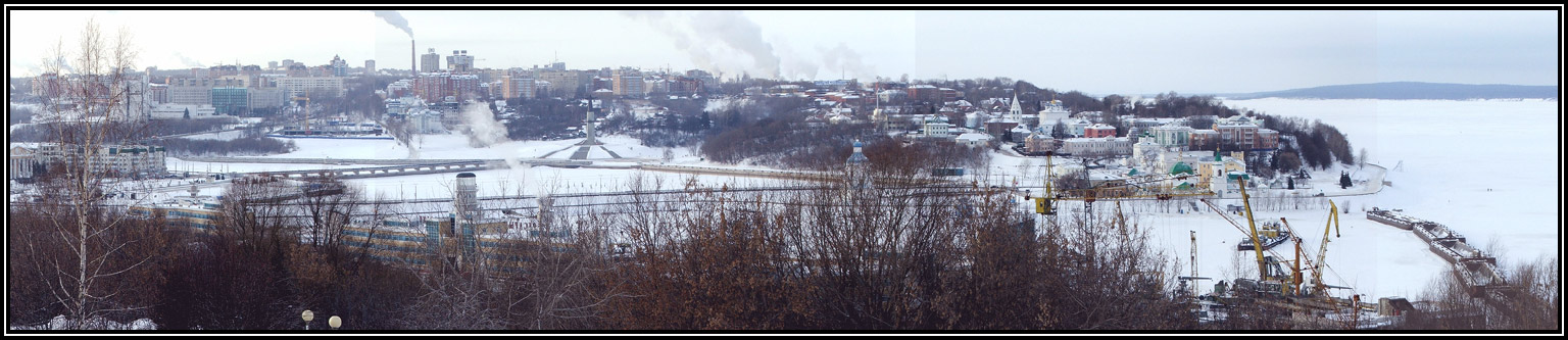 "photo ""Cheboksary"" tags: landscape, panoramic, winter"