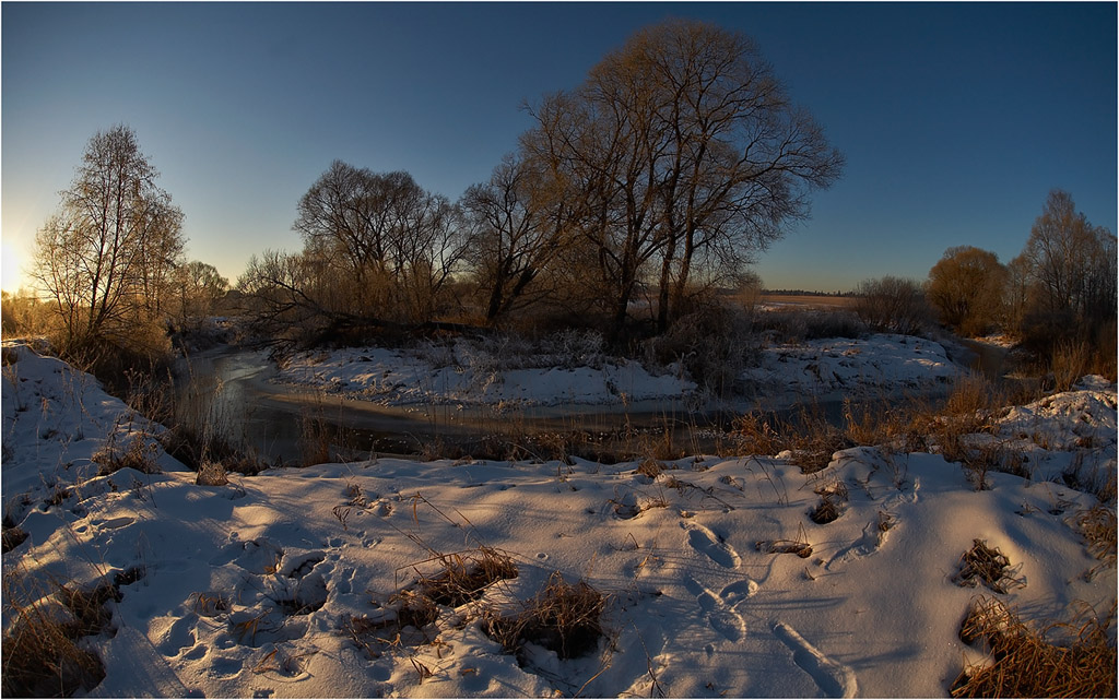 "photo ""Winter morning"" tags: landscape, sunset, winter"