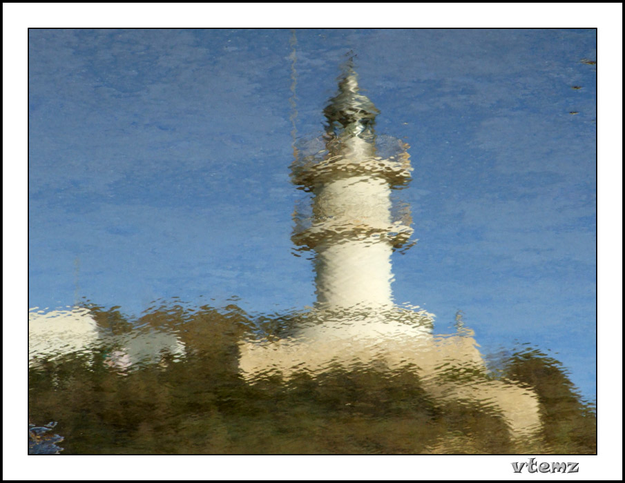"photo ""Reflection of lighthouse"" tags: landscape, water"