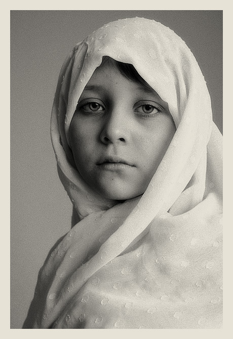 "photo ""In the old style"" tags: portrait, black&white, children"
