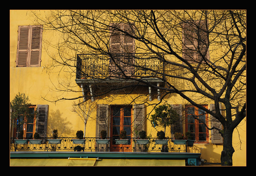 "photo ""The Yellow House"" tags: architecture, landscape, winter"