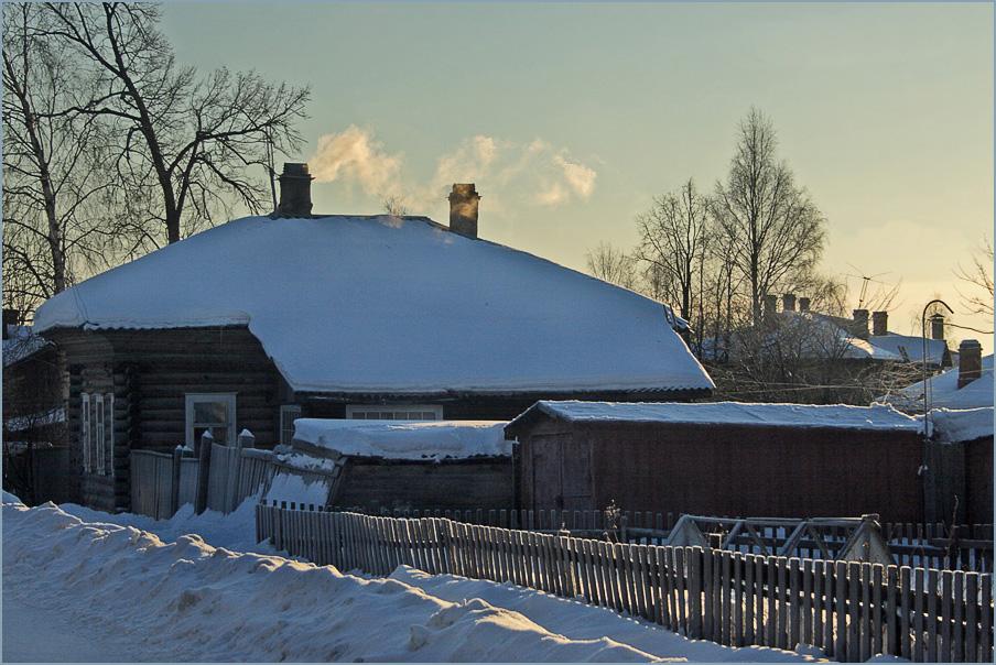 """photo """"Smoke motherland ..."""" tags: landscape, winter"""