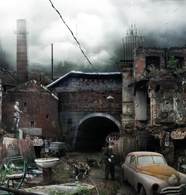 """фото """"Город сломанных надежд (фрагмент)"""" метки: фотомонтаж,"""