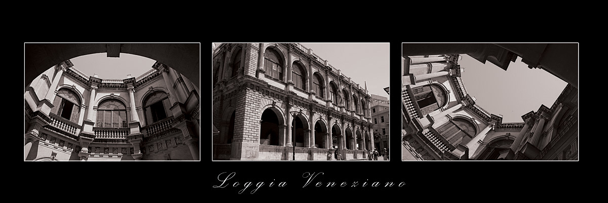 "photo ""Loggia Veneziano"" tags: architecture, black&white, landscape,"