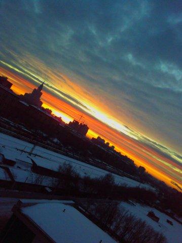 """фото """"утро в офисе"""" метки: пейзаж, закат"""