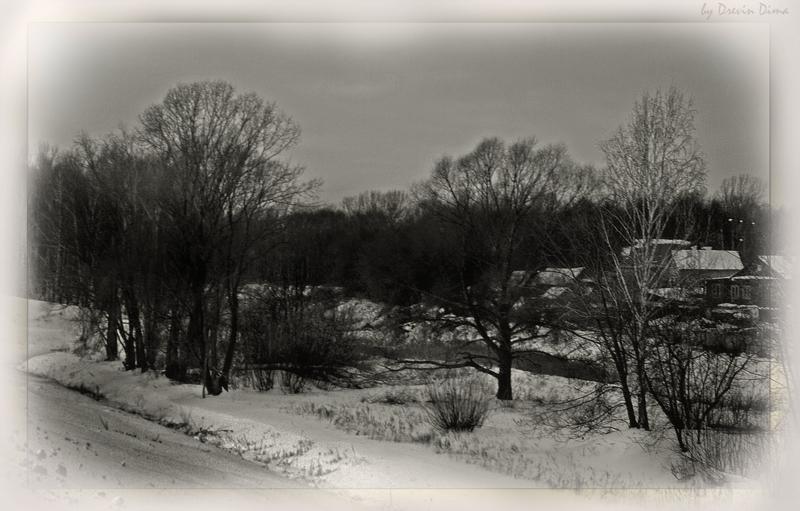 """фото """"Вечер на хуторе близ Диканьки"""" метки: пейзаж, зима"""