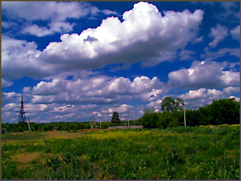"photo ""Немного, очень синего неба."" tags: landscape, clouds"