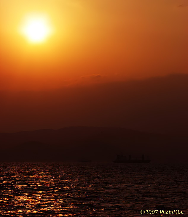 "photo ""Greek Sunset Over The Sea"" tags: landscape, travel, Europe, sunset"