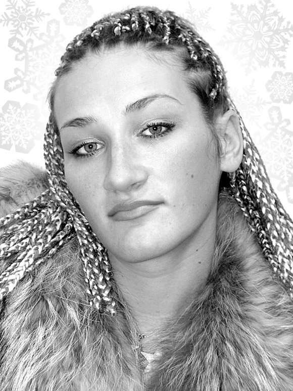 """photo """"The snow queen"""" tags: portrait, glamour, woman"""