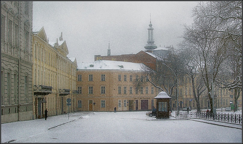 "photo ""Silent snowiness"" tags: architecture, landscape, winter"