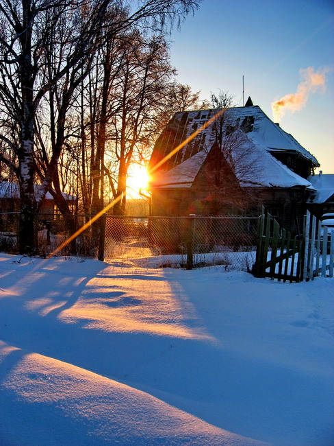 "photo ""***"" tags: landscape, sunset, winter"