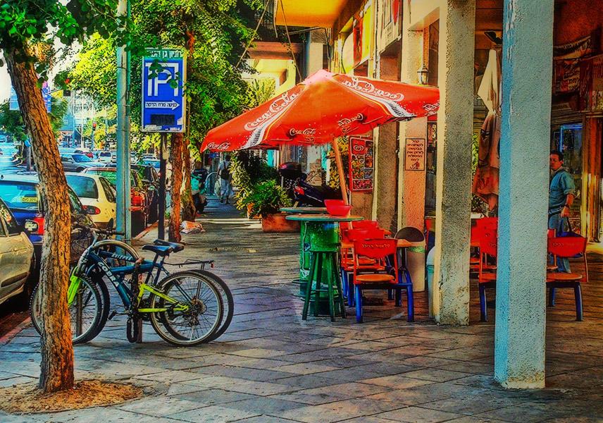 "photo ""Street cafe"" tags: city,"