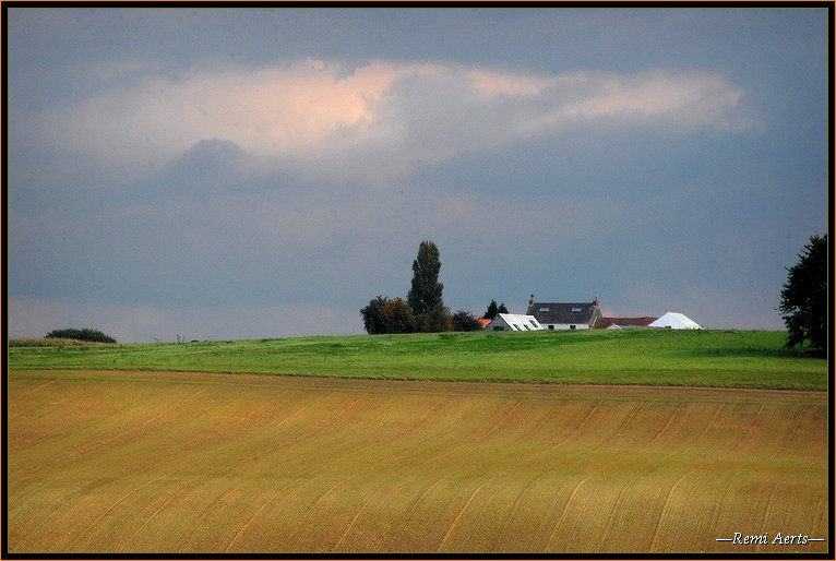 "photo ""Belgian landscape"" tags: architecture, landscape, spring"
