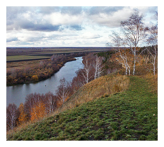 "photo ""View of the Ishim River in rugged ridge. Repost"" tags: landscape, travel, Asia, autumn"