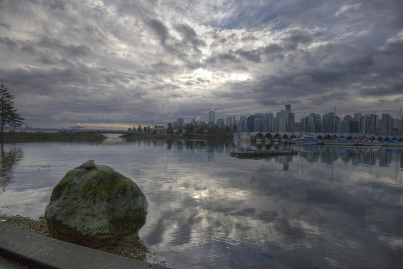 "photo ""Coal Harbour Marina"" tags: landscape, travel, North America, water"