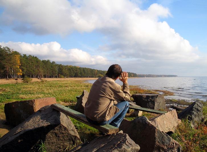 """photo """"Alone"""" tags: landscape, portrait, man"""