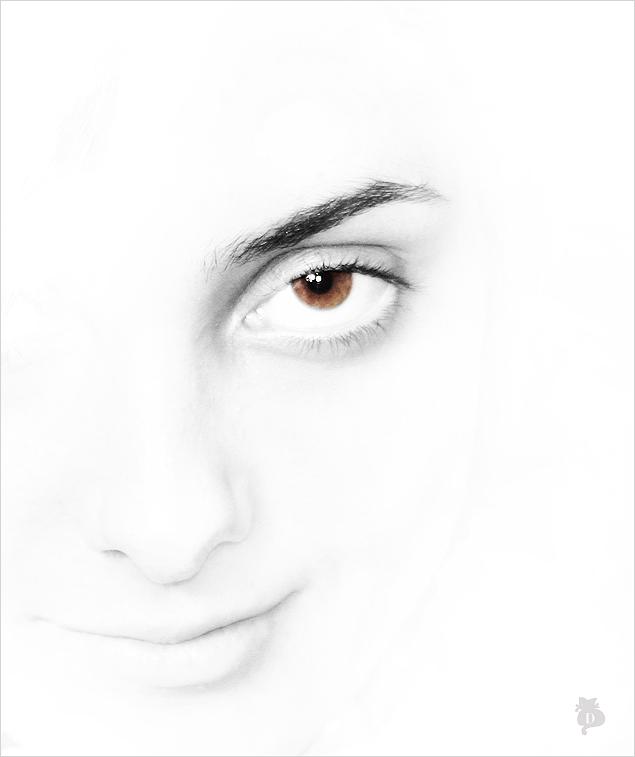 "photo ""***"" tags: portrait, black&white, woman"