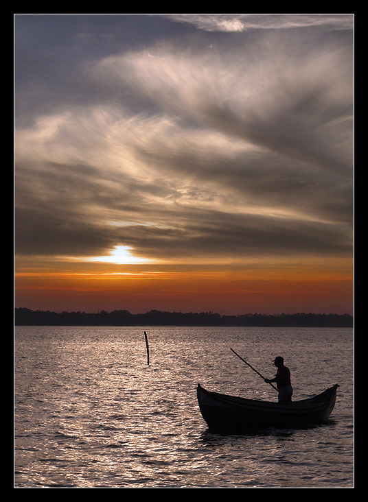 "photo ""Fisherman of Dreams"" tags: landscape, sunset"