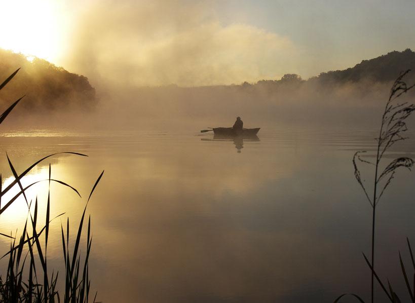 рыбалка в тумане фото
