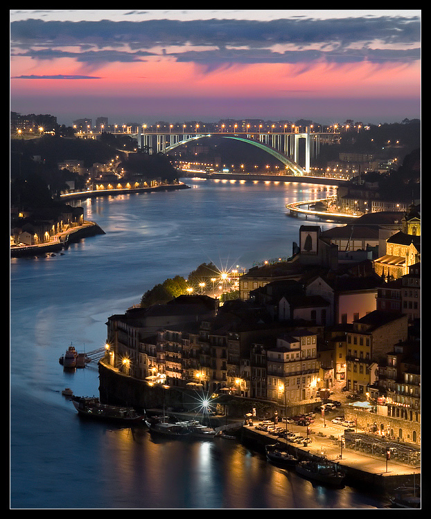 "photo ""Ribeira by night"" tags: landscape, architecture, night"
