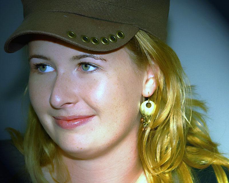 """фото """"merel with cap"""" метки: портрет, женщина"""