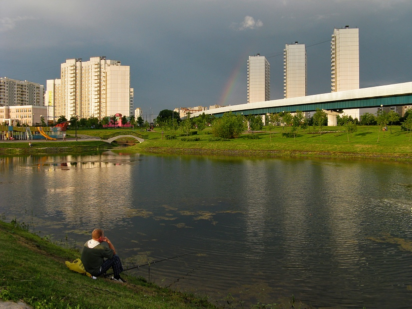"photo ""After rain fishing"" tags: architecture, landscape, water"
