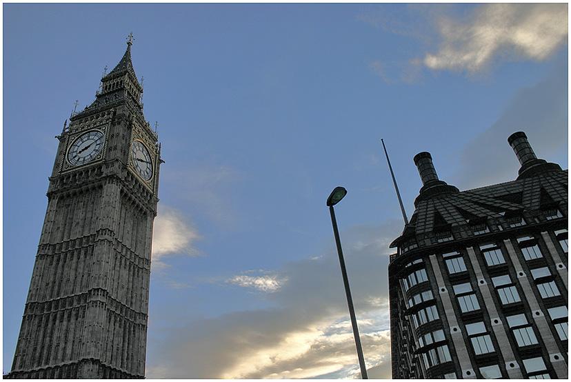 "photo ""Against the backdrop of the sky."" tags: , Europe, Биг Бэн, Лондон"