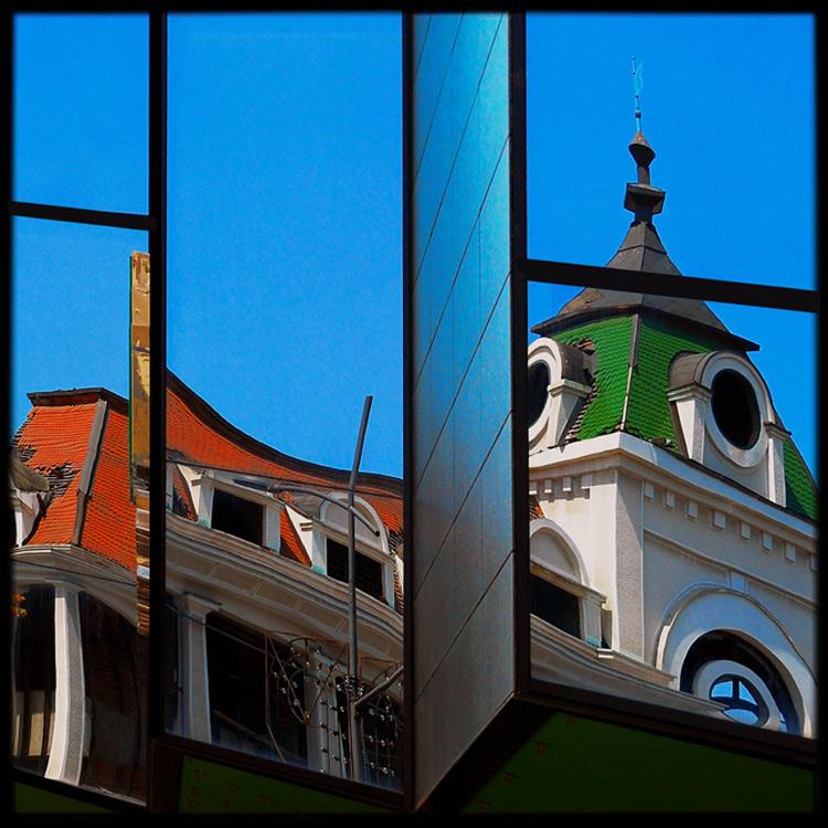 "photo ""Reflex, (P.Mondrian)"" tags: fragment, city,"