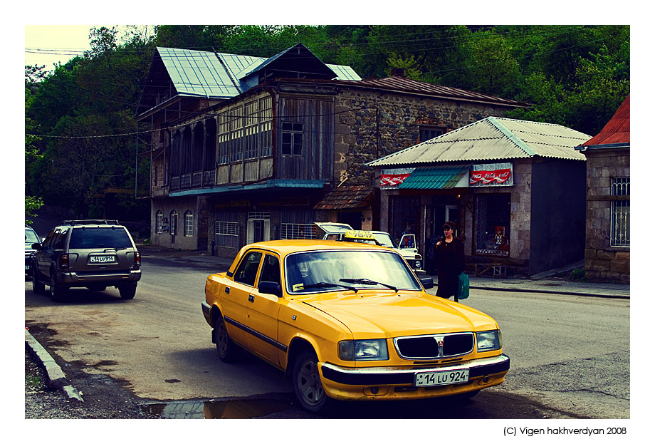"""photo """"Taxi of Dilijan"""" tags: city, travel,"""