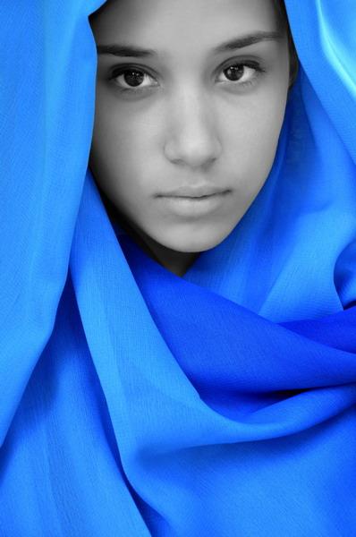 """photo """"Vizantian blue"""" tags: portrait, woman"""