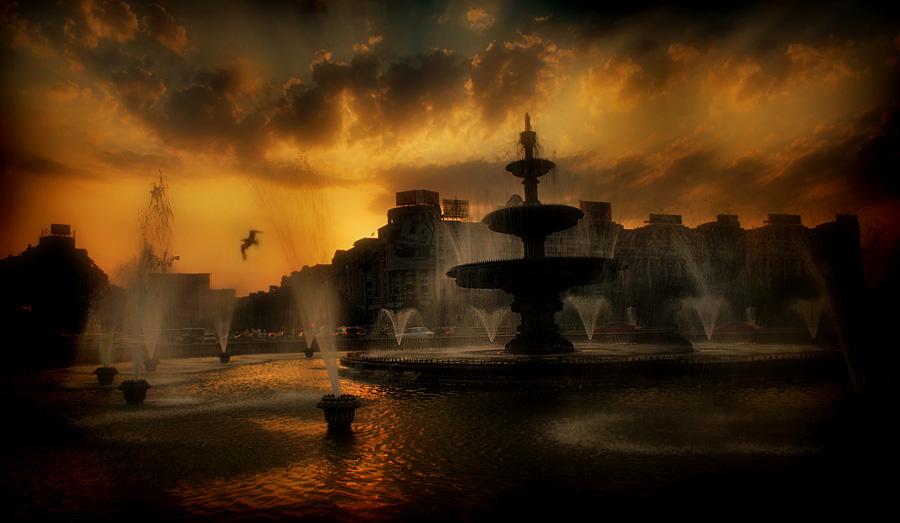 "photo ""Ich warte hier"" tags: landscape, sunset"