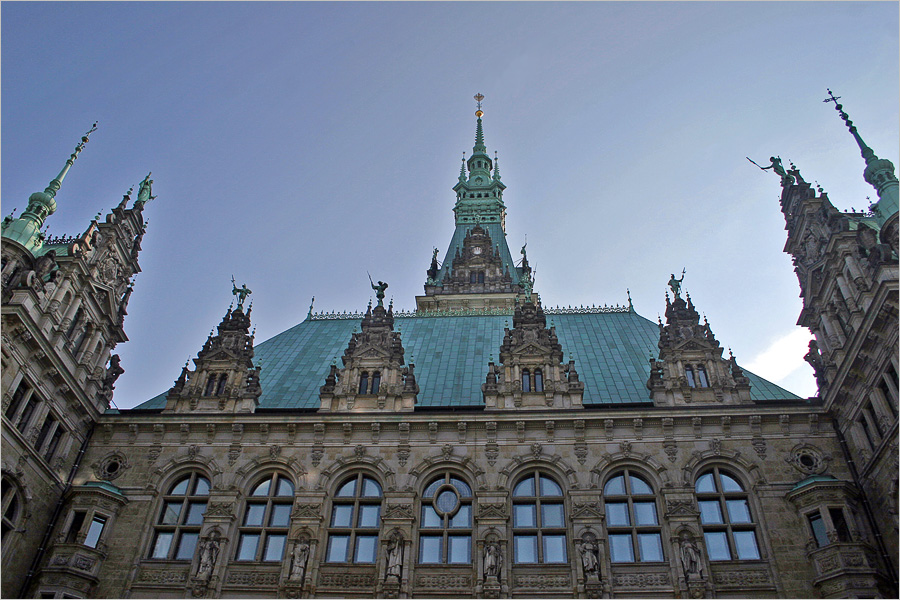 """photo """"City Hall in Hamburg"""" tags: architecture, travel, landscape, Europe"""