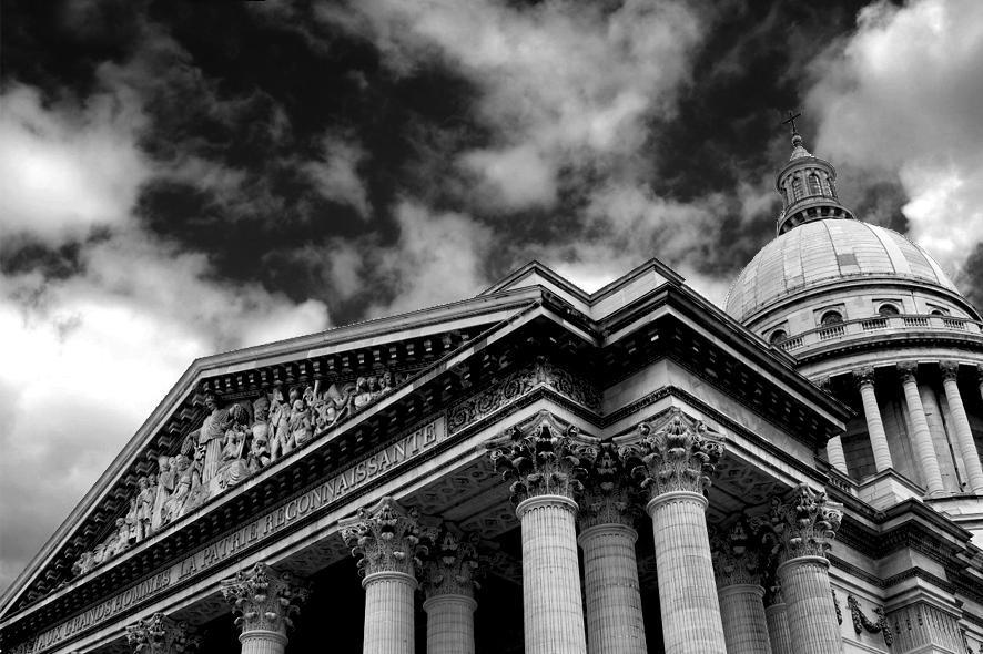 "photo ""Pantheon"" tags: architecture, black&white, landscape,"