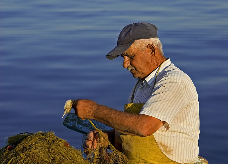 "photo ""Old fisherman"" tags: portrait, man"