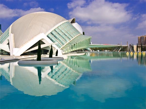 "photo ""Ciudad de las artes"" tags: architecture, landscape,"