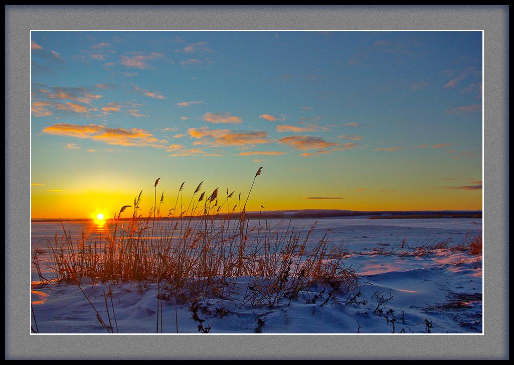 """фото """"Зимняя зарисовка"""" метки: пейзаж, закат"""
