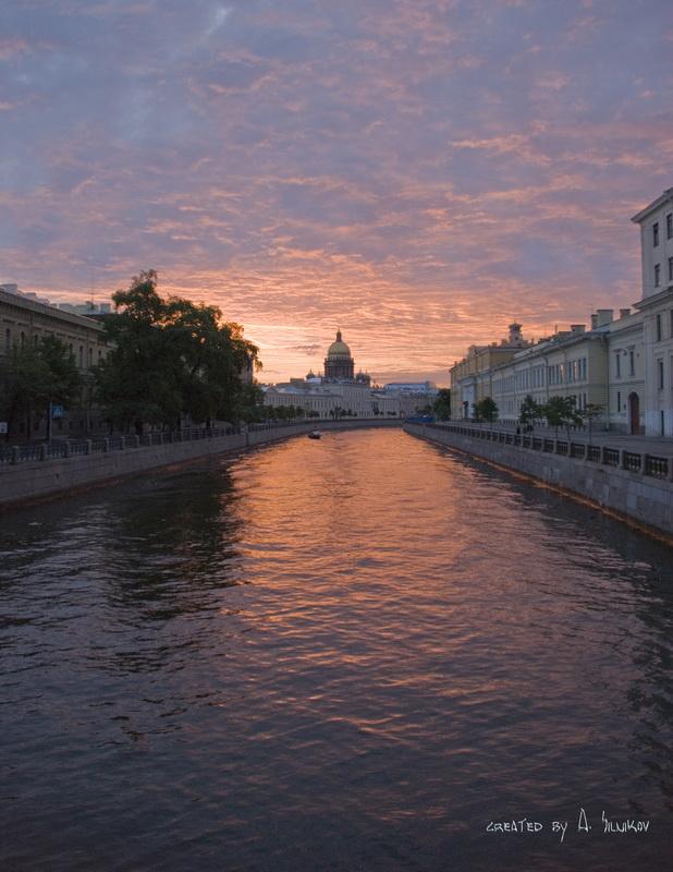 """фото """"розовый Исаакиевский собор"""" метки: архитектура, пейзаж, закат"""