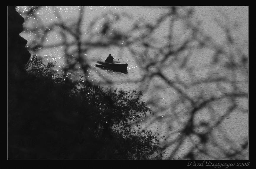 """фото """"Наедине"""" метки: пейзаж, черно-белые, вода"""