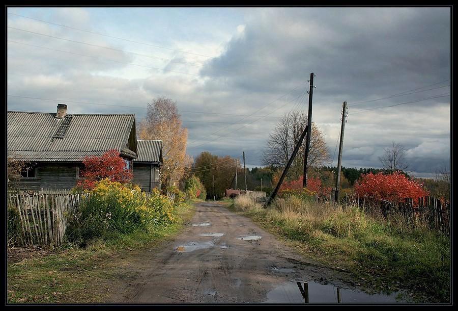 "фото ""Деревенька"" метки: пейзаж, осень"