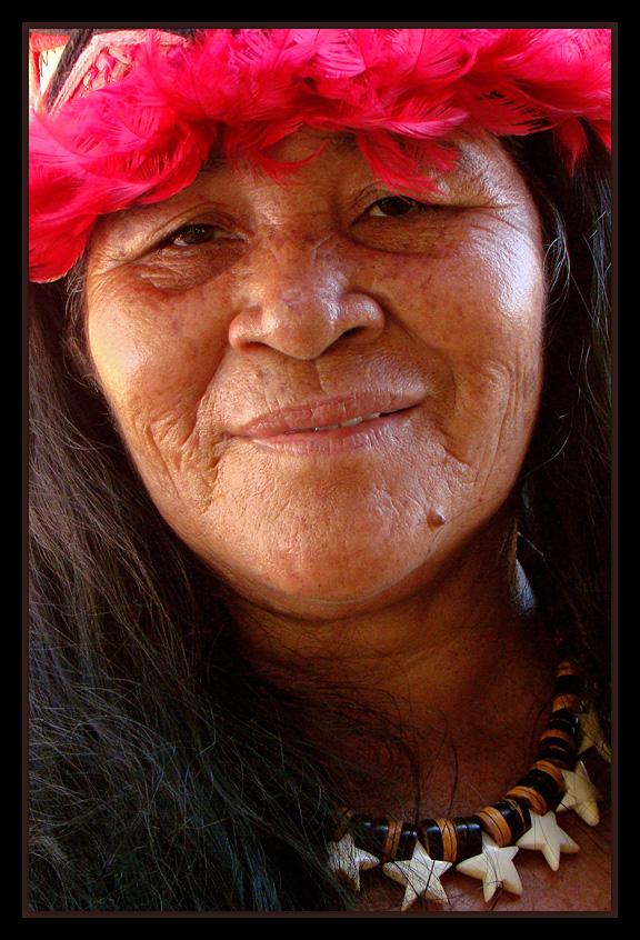 "photo ""Indian Xerente"" tags: portrait, woman"