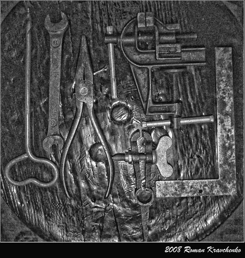 """фото """"Инструменты,философия жизни....."""" метки: натюрморт, черно-белые,"""