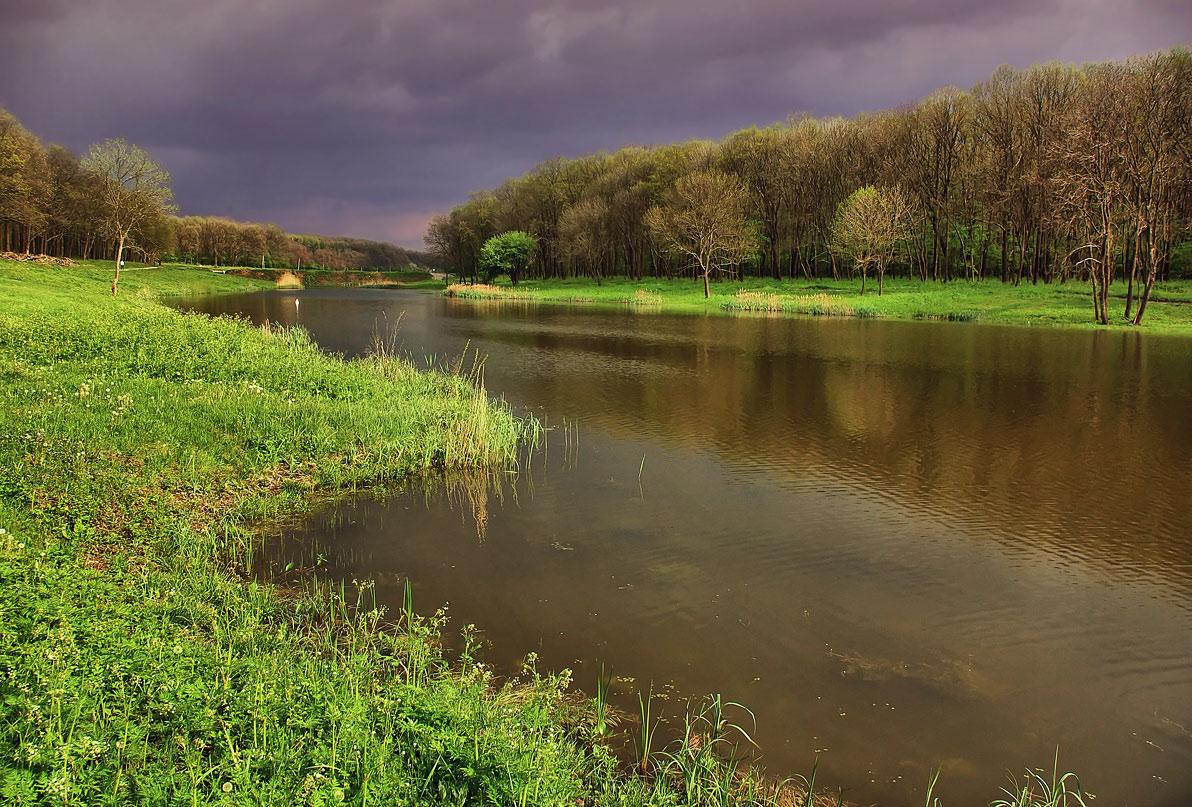 """фото """"Перед грозой"""" метки: пейзаж, весна"""