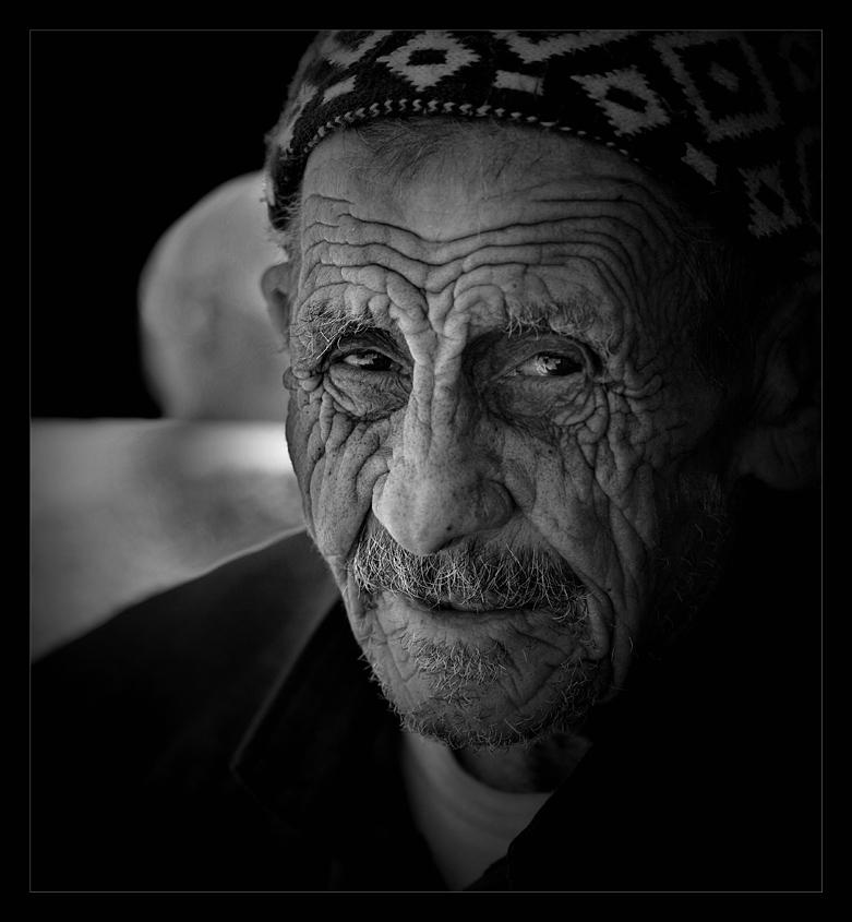 "photo ""Old Man"" tags: portrait, black&white, man"
