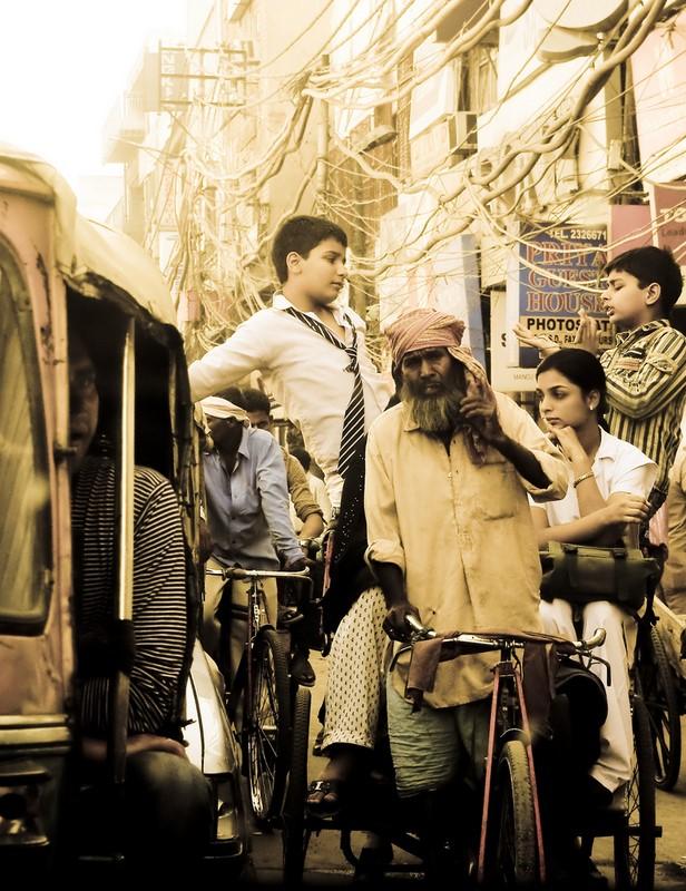 "фото ""on the street of old delhi"" метки: путешествия, город, Азия"