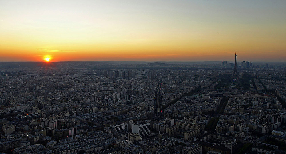 "фото ""Парижская закатная"" метки: пейзаж, путешествия, Европа, закат"