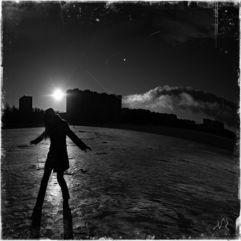 """фото """"мусорный ветер"""" метки: черно-белые, город,"""
