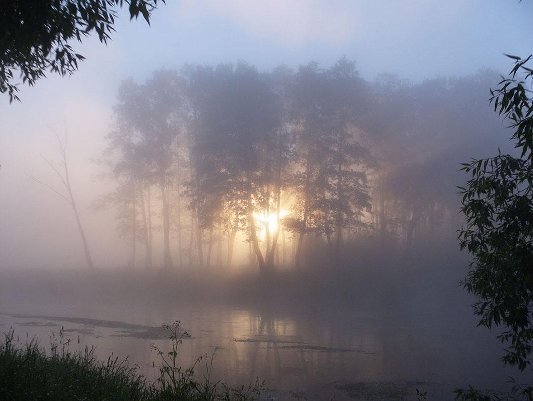"""фото """"Утренний туман"""" метки: пейзаж, вода, закат"""