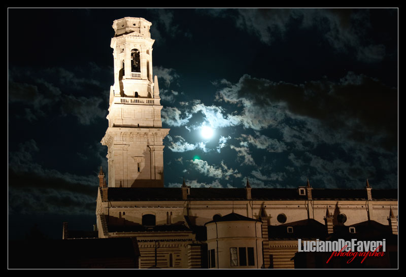 """photo """"Moon over the Cathedral"""" tags: landscape, night"""